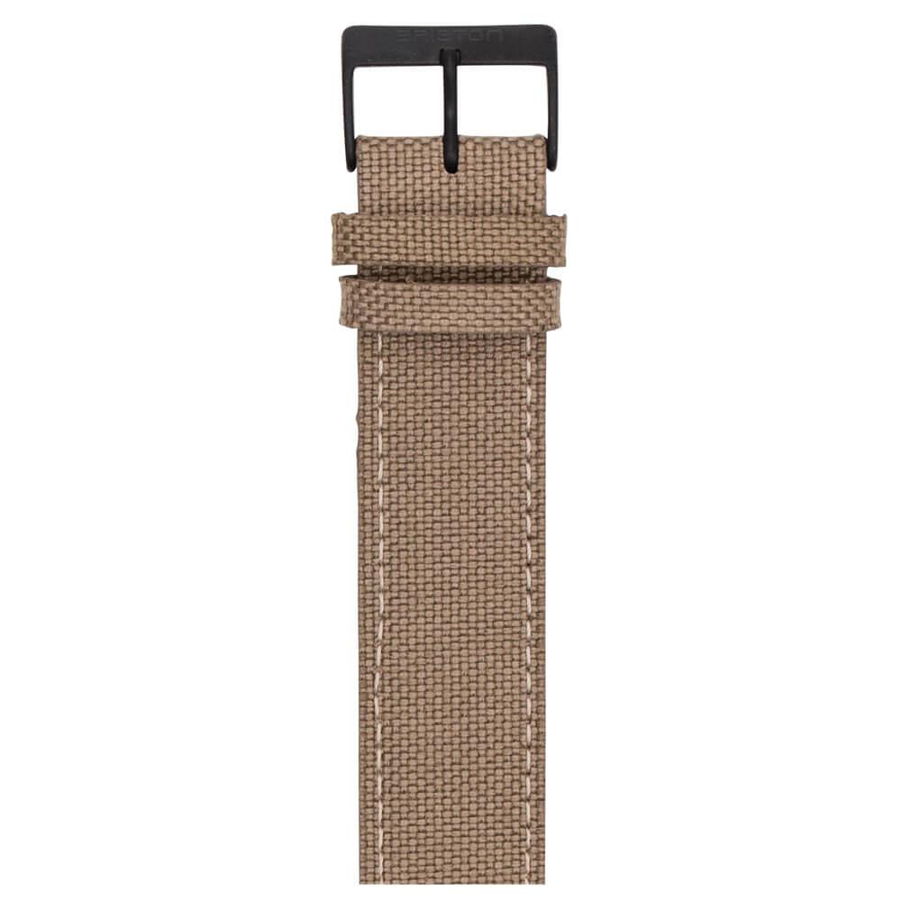 leather-strap-canvas-khaki-NLS20-PVD-K