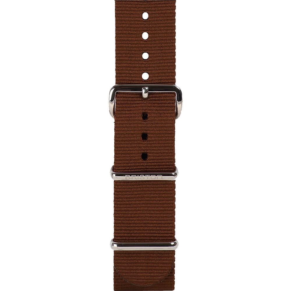 Bracelet NATO chocolat Briston 20 mm - NG20.TCH