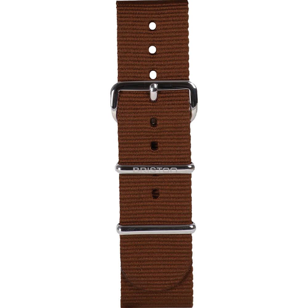 Bracelet NATO chocolat Briston 20 mm - NS20.TCH