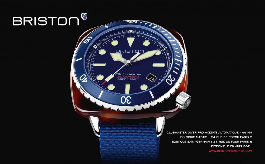 Pub 1:2 page Briston- Clubmaster Diver Pro Acetate - Bleu 2021