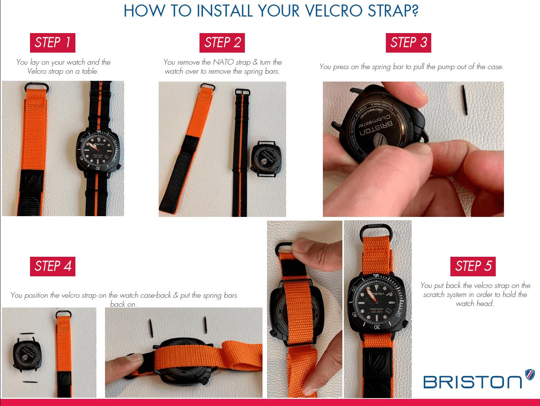 Install your Velcro strap - Briston